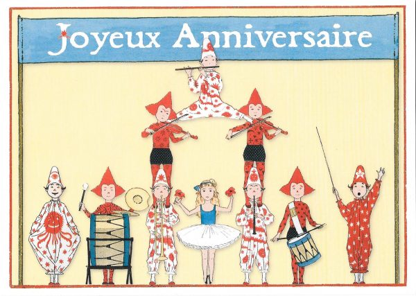 Children's fanfare Happy birthday greeting card