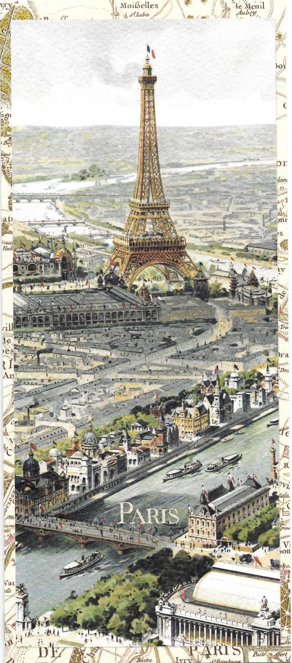 Eiffel Tower during universal exposition greeting card