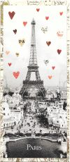 Eiffel tower greeting card with heart