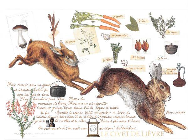 Rabbit recipe card
