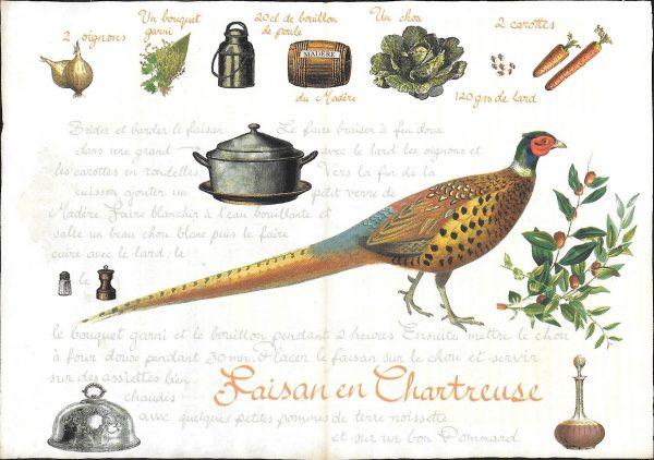 Pheasant recipe card