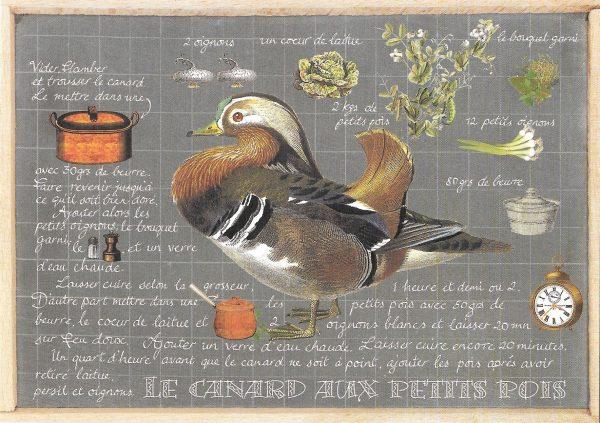Duck recipe card