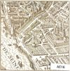 Faubourg St Germain engraving square greeting card