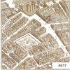 Bastille engraving square greeting card